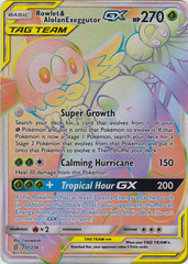 Rowlet & Alolan Exeggutor Tag Team GX -- 237/236 - Secret Rare