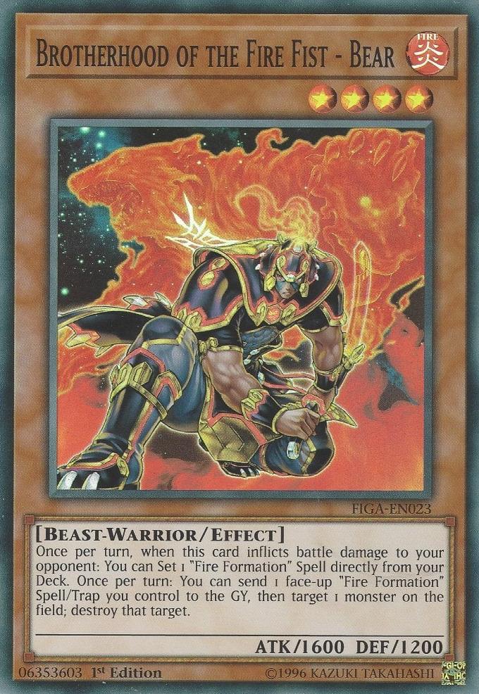 Brotherhood of the Fire Fist - Bear - FIGA-EN023 - Super Rare - 1st Edition