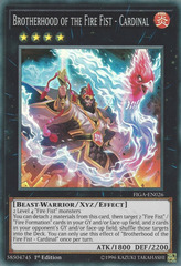 Brotherhood of the Fire Fist - Cardinal - FIGA-EN026 - Super Rare - 1st Edition