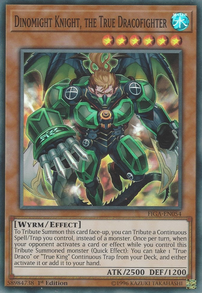 Dinomight Knight, the True Dracofighter - FIGA-EN054 - Super Rare - 1st Edition
