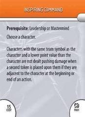 - #F01 Inspiring Command