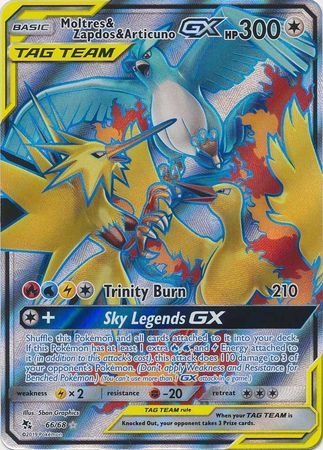 Moltres & Zapdos & Articuno Tag Team GX - 66/68 - Full Art Ultra Rare