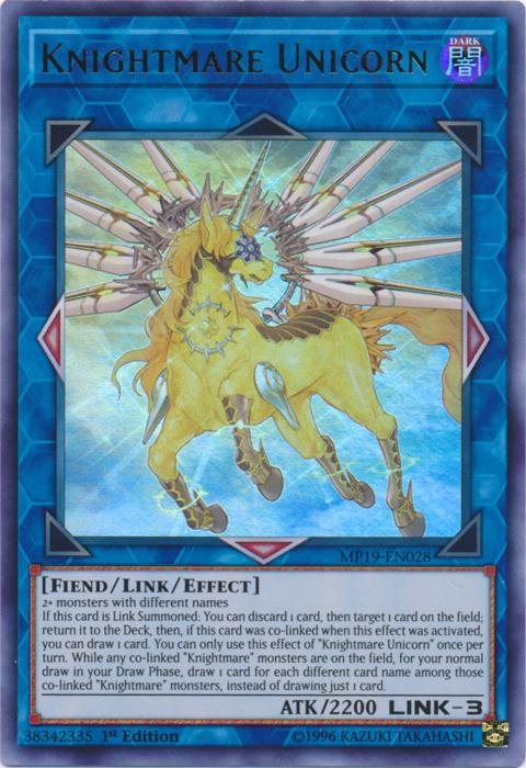 Knightmare Unicorn - MP19-EN028 - Ultra Rare - 1st Edition