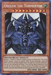 Obelisk the Tormentor (alternate art) - TN19-EN007 - Prismatic Secret Rare - Limited Edition