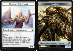 Angel of Sanctions // Horror Double-sided Token