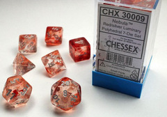 Nebula Red/silver Luminary Polyhedral 7-Die Set - CHX30009