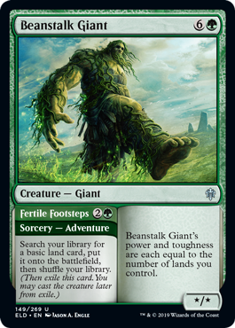 Beanstalk Giant // Fertile Footsteps - Foil