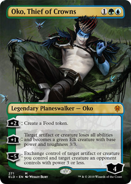 Oko, Thief of Crowns - Foil - Borderless