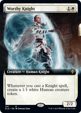 Worthy Knight (Extended Art) - Foil