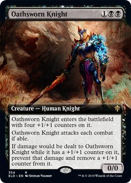 Oathsworn Knight (Extended Art) - Foil