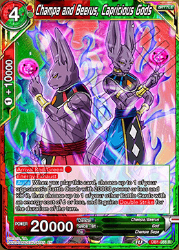 Champa and Beerus, Capricious Gods - DB1-088 - R