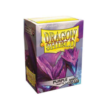Dragon Shield Box of 100 - Matte Non-Glare - Purple