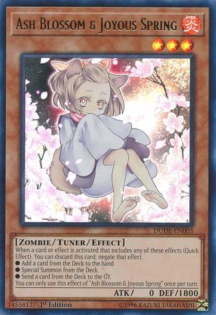 Ash Blossom & Joyous Spring (Alternate Art) - DUDE-EN003 - Ultra Rare - 1st Edition