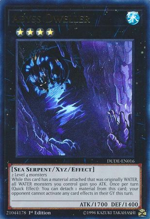 Abyss Dweller - DUDE-EN016 - Ultra Rare - 1st Edition