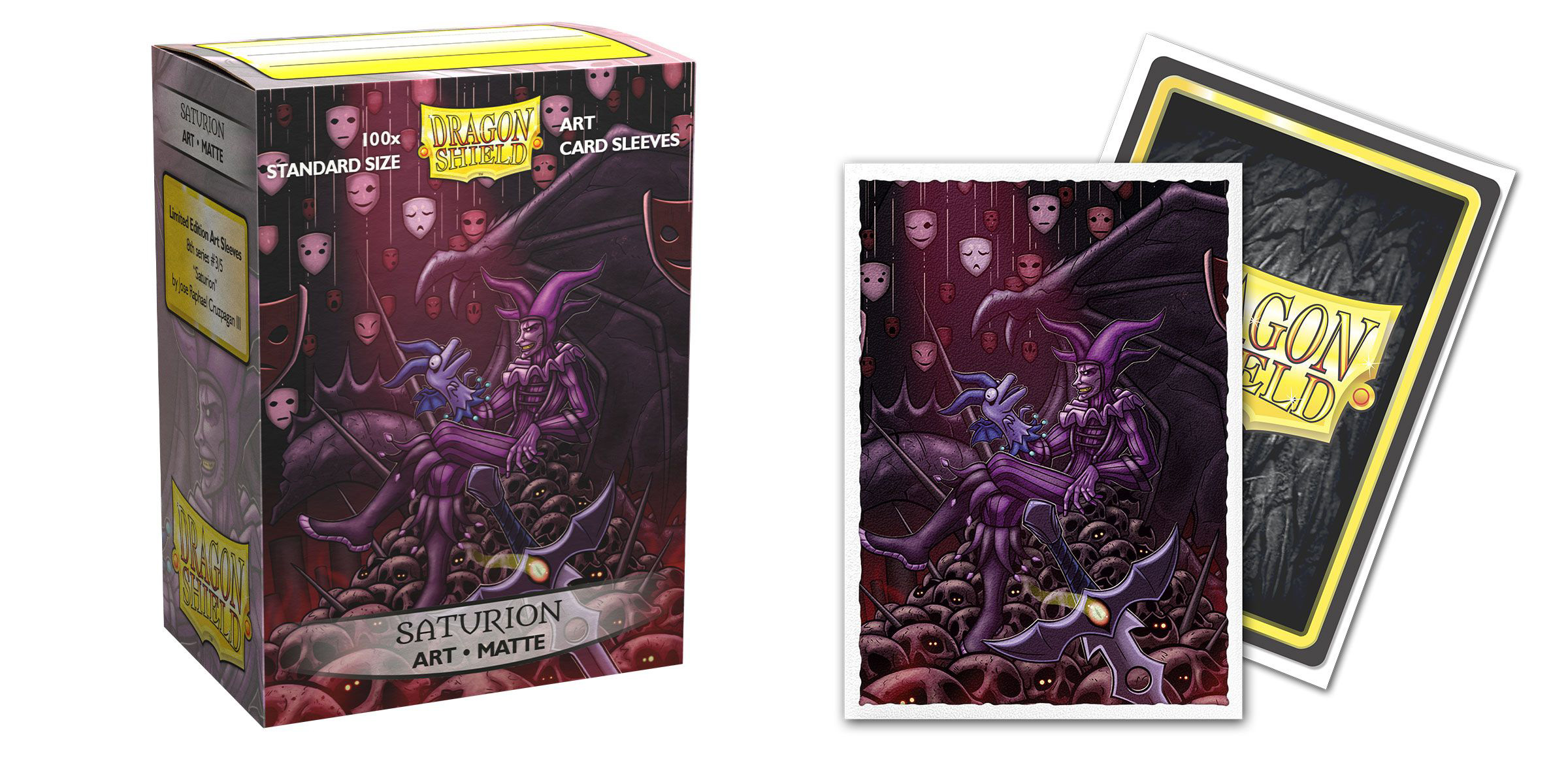 Dragon Shield 100ct Standard Sleeves - Matte Saturion Portrait