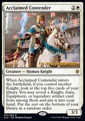 Acclaimed Contender - Foil - Prerelease Promo