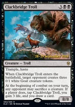 Clackbridge Troll - Foil Prerelease Promo