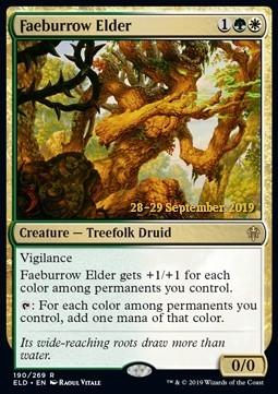 Faeburrow Elder - Foil Prerelease Promo