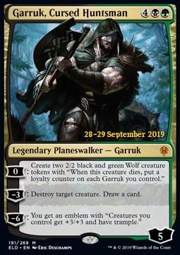 Garruk, Cursed Huntsman - Foil Prerelease Promo