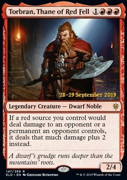 Torbran, Thane of Red Fell - Foil Prerelease Promo