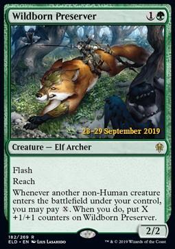 Wildborn Preserver (ELD Prerelease Foil)
