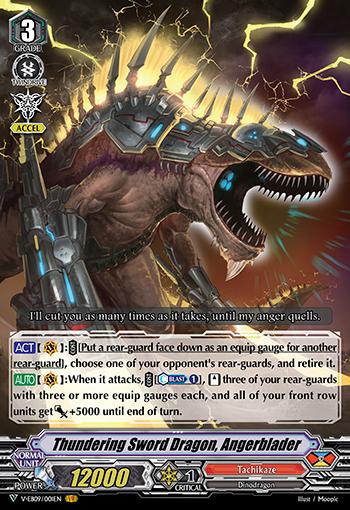 Thundering Sword Dragon, Angerblader - V-EB09/001EN - VR