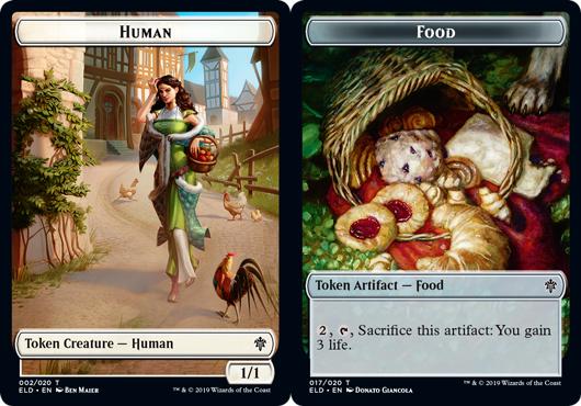 Token - Human // Food (017) - Foil