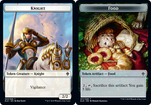 Token - Knight // Food (017) - Foil