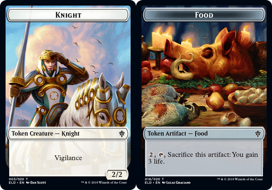 Knight Token // Food Token (018) - Foil