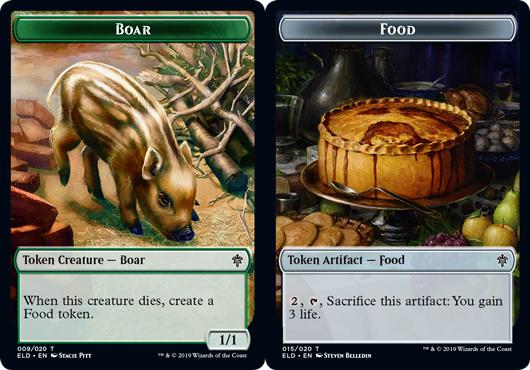 Boar Token // Food Token (015) - Foil