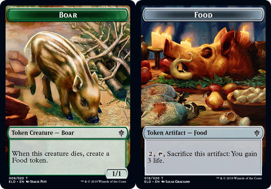 Boar Token // Food Token (018) - Foil