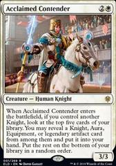 Acclaimed Contender - Foil - Promo Pack