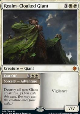Realm-Cloaked Giant // Cast Off - Foil - Promo Pack