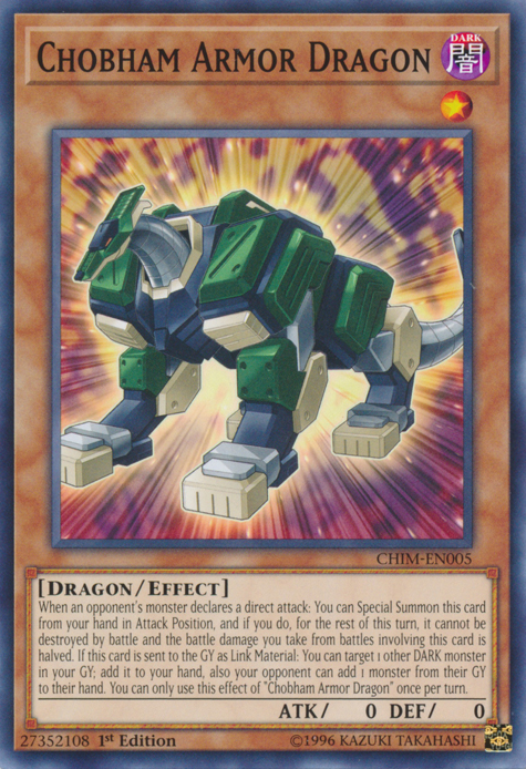 Chobham Armor Dragon - CHIM-EN005 - Common - 1st Edition