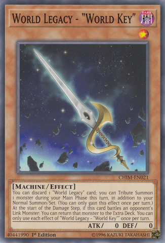 World Legacy - World Key - CHIM-EN021 - Common - 1st Edition