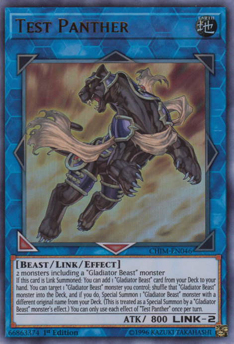 Test Panther - CHIM-EN046 - Ultra Rare - 1st Edition