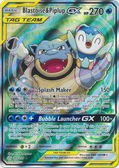 Blastoise & Piplup Tag Team GX (Alternate Art) - 215/236 - Full Art
