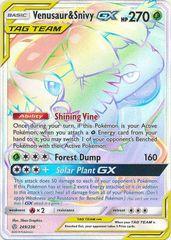 Venusaur & Snivy GX (Secret) - 249/236 - Secret Rare