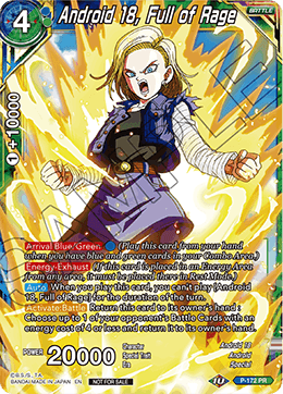Android 18, Full of Rage - P-172 - PR