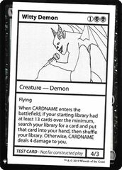 Witty Demon