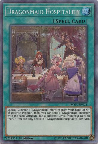 Dragonmaid Hospitality - MYFI-EN023 - Super Rare - 1st Edition
