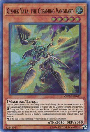 Gizmek Yata, the Gleaming Vanguard - CHIM-EN023 - Super Rare - Unlimited Edition