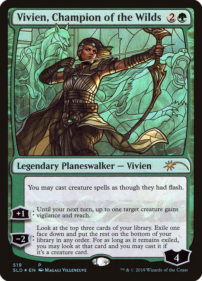 Vivien, Champion of the Wilds - Foil - Stained Glass
