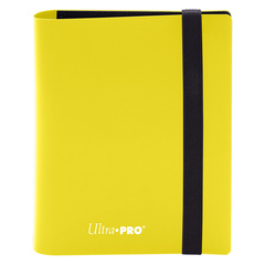 Ultra Pro - 2-Pocket Eclipse Lemon Yellow PRO-Binder