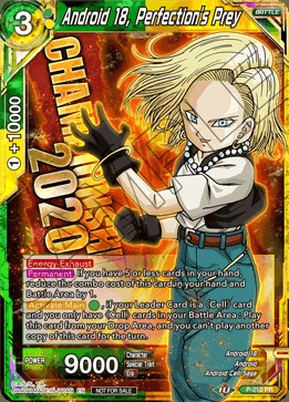 Android 18, Perfections Prey - P-210 - Championship 2020 Promo