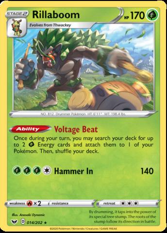 Pokemon Card Japanese HOLO MINT Grookey Thwackey Rillaboom 3 card set sA