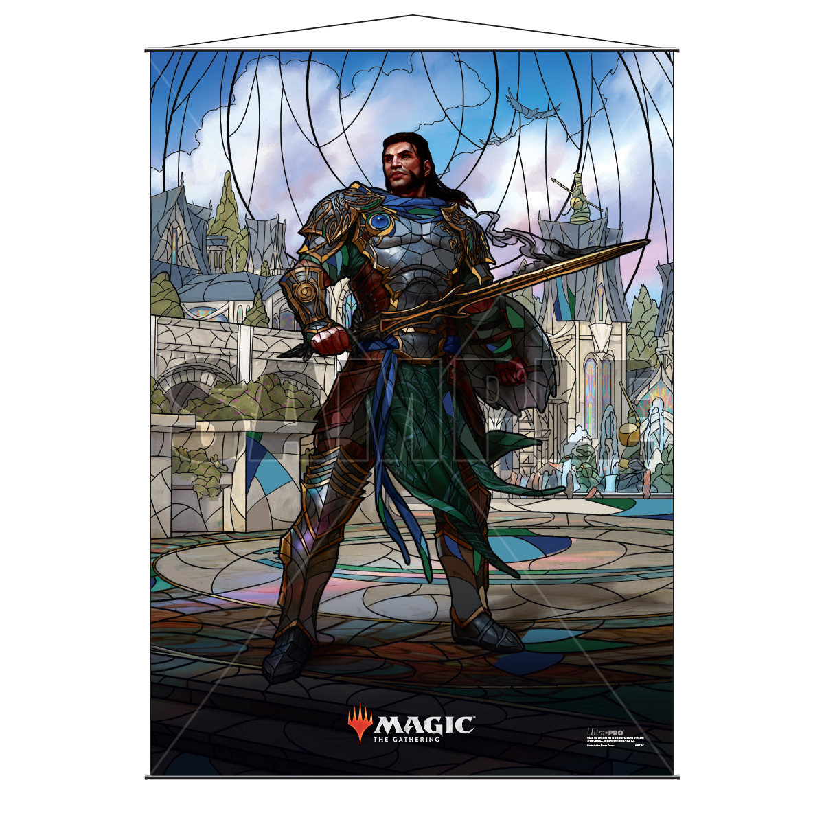 Ultra Pro Wall Scroll War of the Spark Stained Glass Gideon