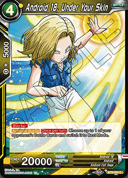 Android 18, Under Your Skin - BT9-055 - C - Foil