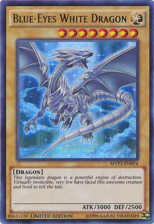 Blue-Eyes White Dragon - MVP1-ENSV4 - Ultra Rare - Limited Edition