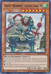 Ancient Warriors - Valiant Zhang De - IGAS-EN013 - Rare - 1st Edition